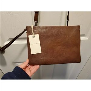 Lucky Brand ChiraCrossbodyLeather Rootbeer Color